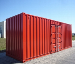 Colorful container powder coating