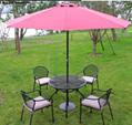 Outdoor big umbrella powder coating