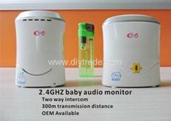 Audio wireless baby monitor with two way walk