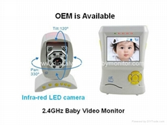 2.4inch Wireless Video Baby Monitor with Temperature Detector