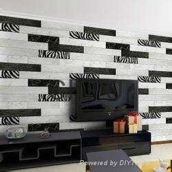 Production line of wood like bed and TV background wall 4