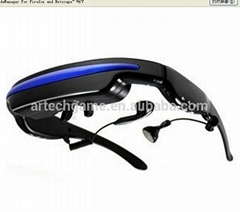 Portable LCD display Video Glasses with 4G flash