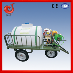 orchard pesticide trolley mounted vehicular tank sprayer