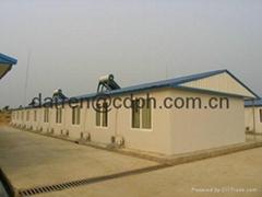 steel sheet sandwich panel and hot ga  anized steel structure prefab room