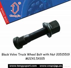 Black Volvo Truck Wheel Bolt with Nut 20515519