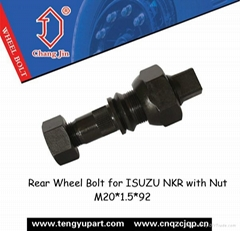 Rear Wheel Bolt for ISUZU NKR with Nut