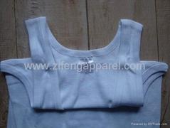 Wholesale plain white mens underwear inner vest