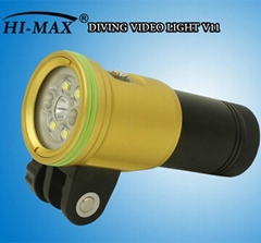 HI-max V11 diving flashlight with focus and wide light option