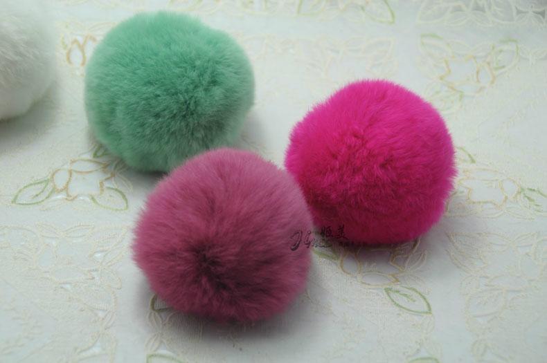 獺兔毛球 圍巾帽子裝飾毛球 5