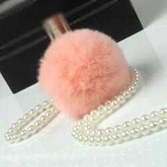 獺兔毛球 圍巾帽子裝飾毛球