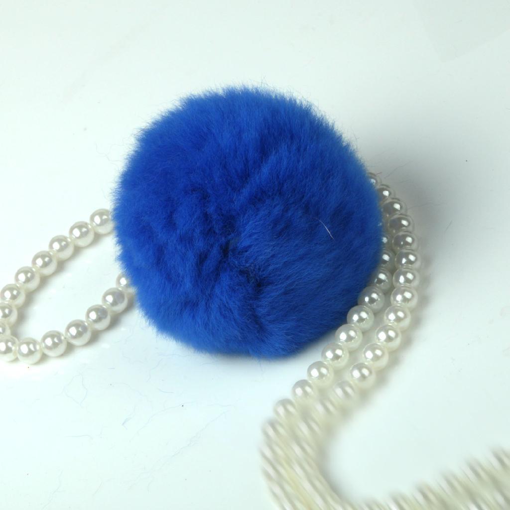 獺兔毛球 圍巾帽子裝飾毛球 4
