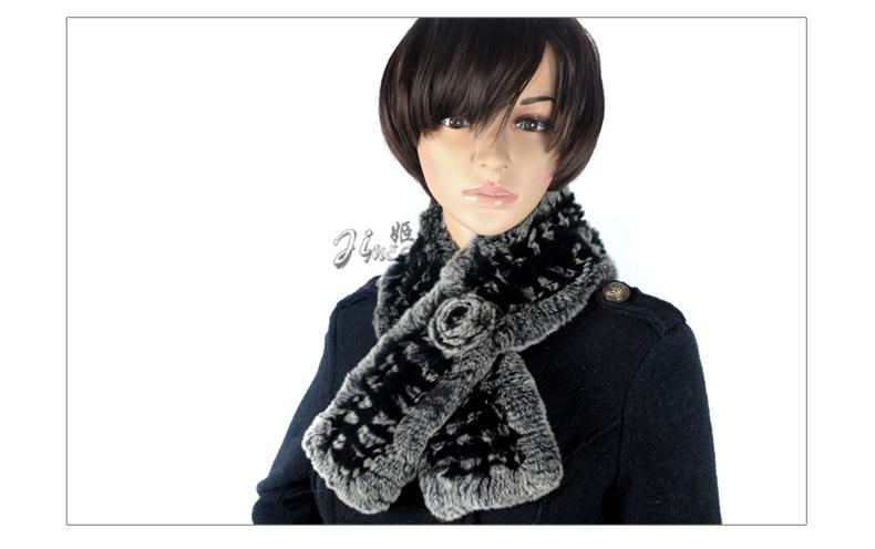 獺兔毛圍巾 5
