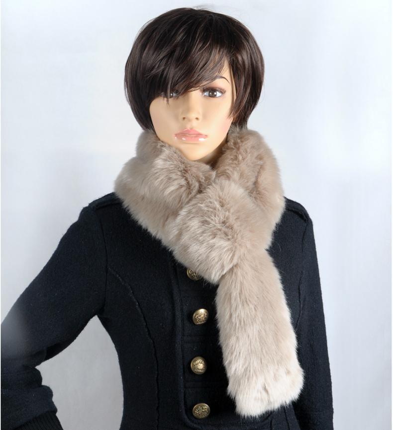 仿狐狸毛圍巾 1