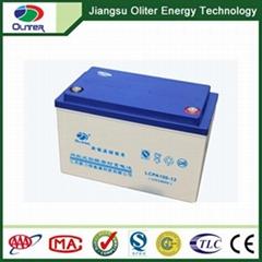 超长使用寿命2年质保出口品质12V100AH太阳能蓄电池