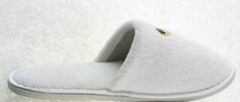 EVA sole super soft white coral fleece slippers -- hotel consumable products