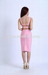 2014 popular style attractive 2 piece dress latest fashion club dress