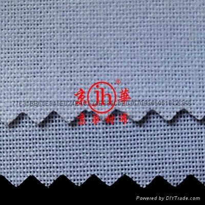 服装用单面覆膜粘合衬布  2