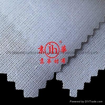 服装用领口袖口有纺粘合衬布 3