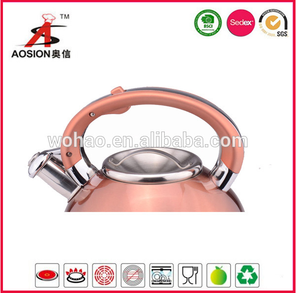 gold color stainless steel turkish tea kettle 2