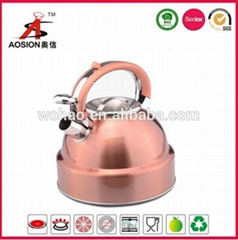 gold color stainless steel turkish tea kettle
