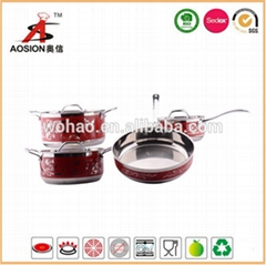 hot new product stainless steel cookware with 9pcs
