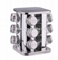 stainless steel square cruet set