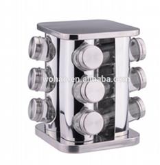 stainless steel square cruet set