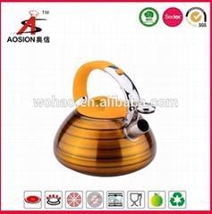 new design stainless steel turkish teapot