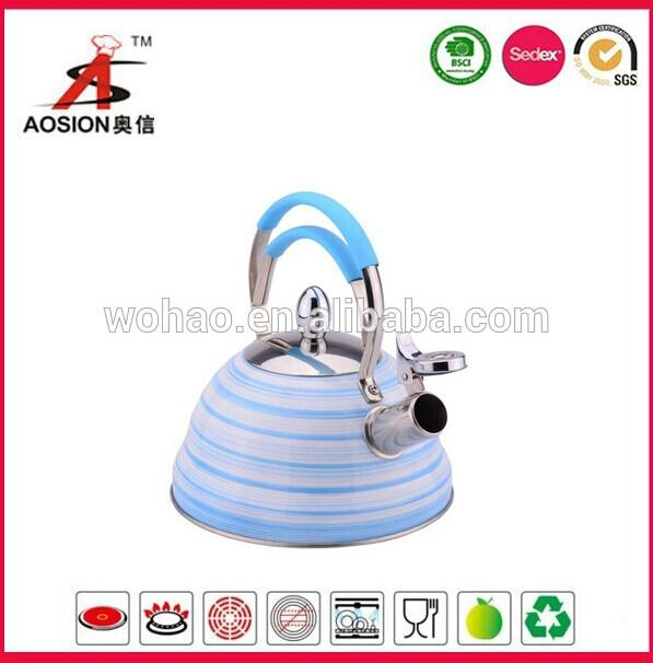 new product stainless steel tea kettle with wire handle 1