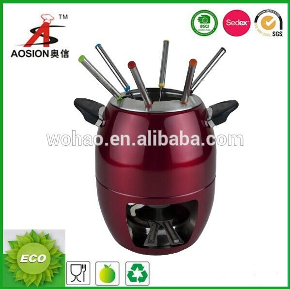 new product stainless steel chocolate fondue set 1