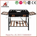 portable outdoor cast iron 2 burners gas