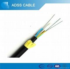 Single mode g652 adss optical fiber cable