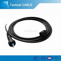 DLC outdoor fiber optic cable with connector