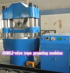 Wire rope hydraulic pressing machine