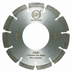 Segmented sintered saw blade 150