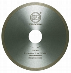 Continuous tooth Ceramic saw blade 300