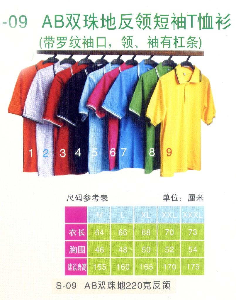 反领短袖T恤衫 4