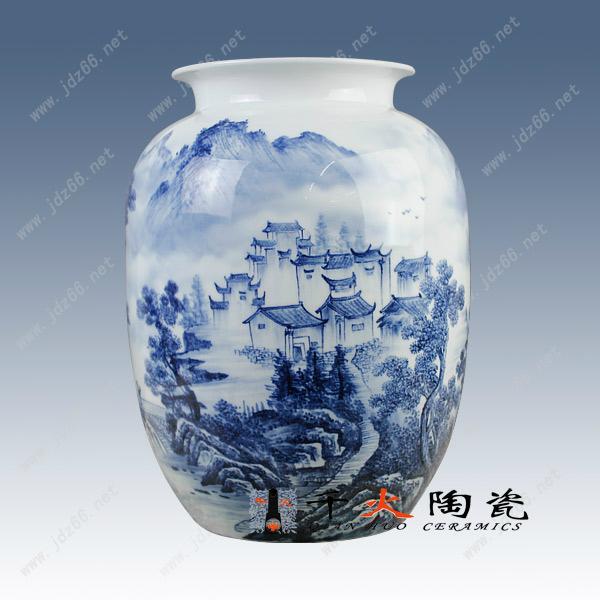 手繪青花陶瓷花瓶  青花瓷瓶 高檔禮品花瓶 1