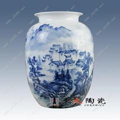手繪青花陶瓷花瓶  青花瓷瓶 高檔禮品花瓶