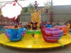 公園遊樂設備熊出沒轉杯