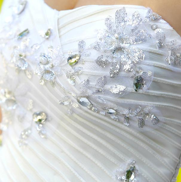 抹胸齊地婚紗  5