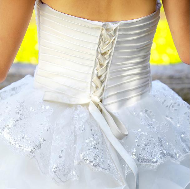 抹胸齊地婚紗  3