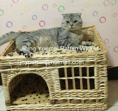 wicker basket wicker pet basket dog house wicker dog bed pet house 1