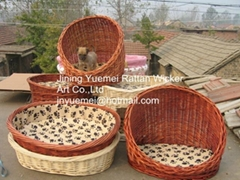wicker pet basket wicker dog house willow dog Cheristmas for your pets