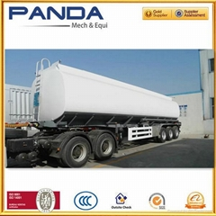 PANDA 4 inch bottom valve tanker trailers 42 cbm fuel tanker trailer for sale