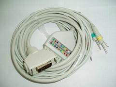 日本光電ECG-6511心電圖機心電導聯線