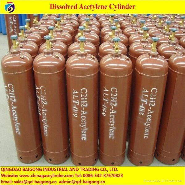 Made in China Steel Acetylene Gas Cylinder Price - 40L