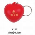 cheap custom pu keychain 4