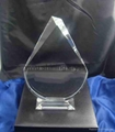 k9 blank crystal glass trophy award for