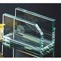 crystal glass office stationery with pen holder and name card holder 3
